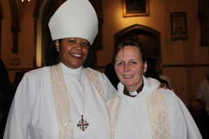Bishop Gayle with Canon Mary Stallard
