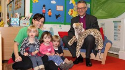Bishop John with the Little Gems playgroup (w)