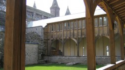 St Davids cathedral cloisters
