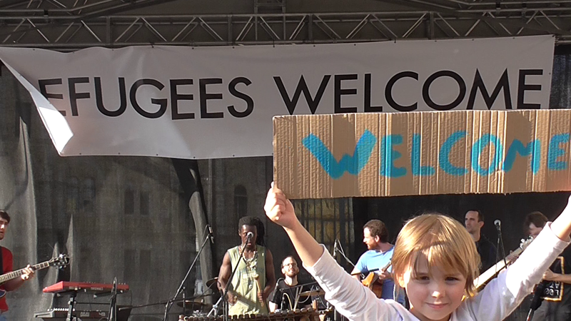 Image result for refugees welcome church