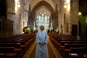 Canon Carol Wardman who preached at Brecon Cathedral