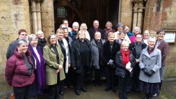 Archbishop Barry with women priests at Llandaff Cathedral