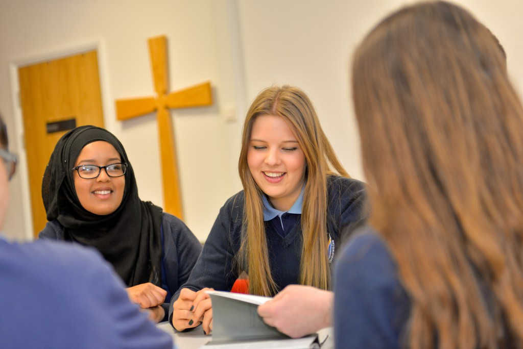 Pupils at St Teilo's Church in Wales school, Cardiff