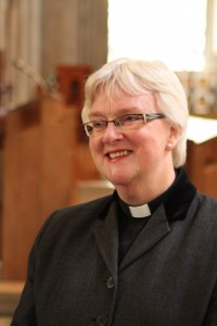 June Osborne at Llandaff Cathedral 3