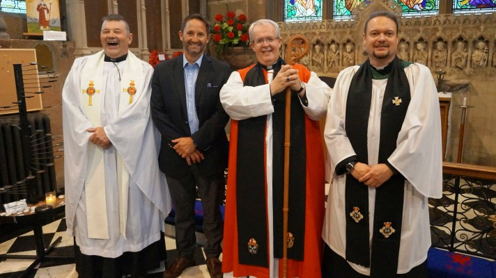 Chaplains with Prison Governor and Bishop Gregory cropped