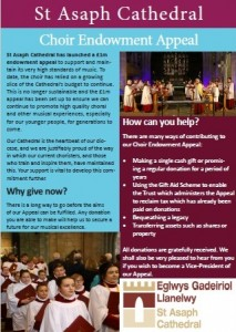 Choir endowment appeal leaflet image