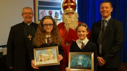 Bishop Gregory St Nicholas Jamie Tennant and the competition winners cropped