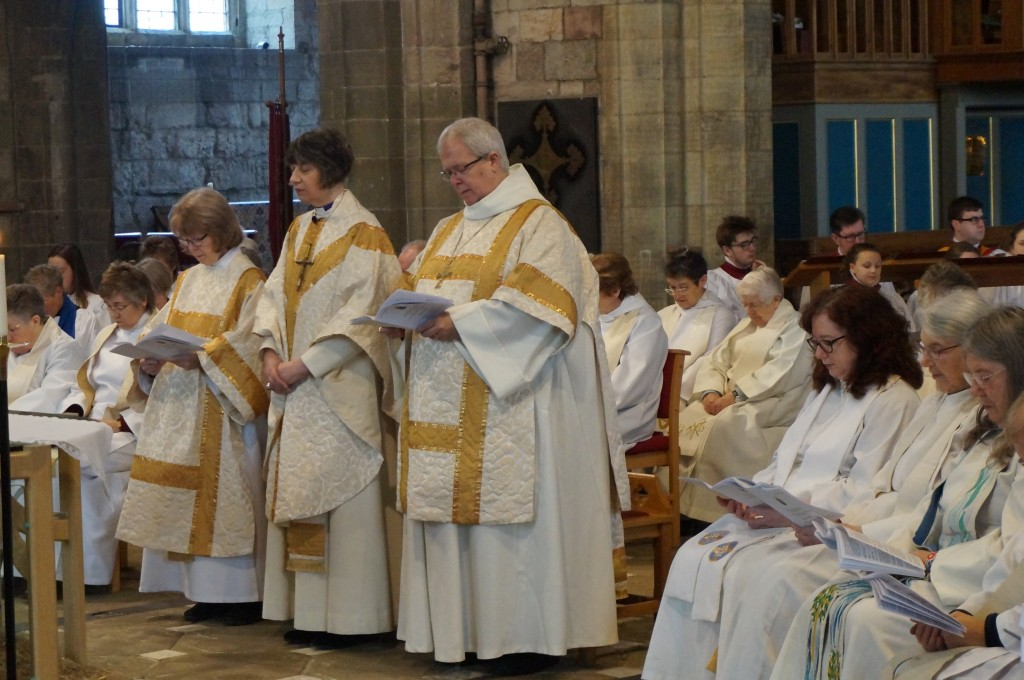 Bishops during the prayers