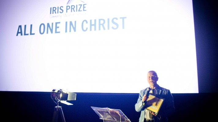 All One in Christ Mike Jones collecting the award