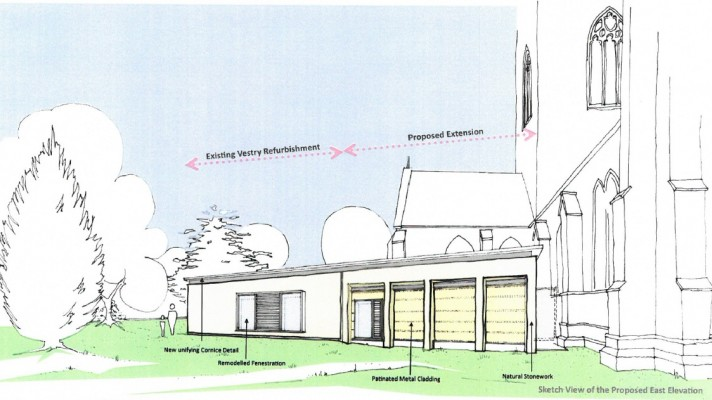 Proposed sketch for St Asaph Cathedral