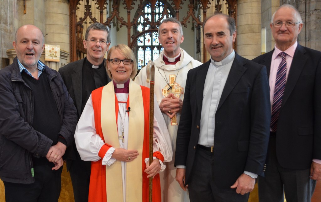 Bishop Pat and Bishop Andy with the team from Meath and Kildare - (L to R) Earl Storey, Archdeacon Leslie Stevenson,  Canon John Clarke and Mr. Kevin Bowers