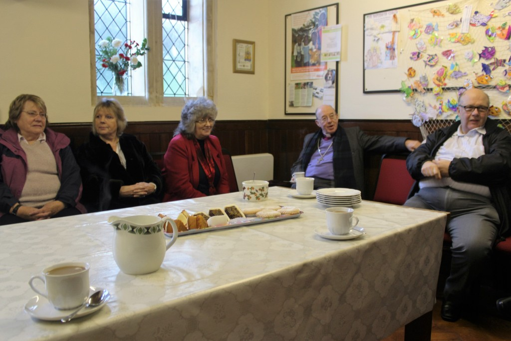 A chance to chat over tea before the Eucharist