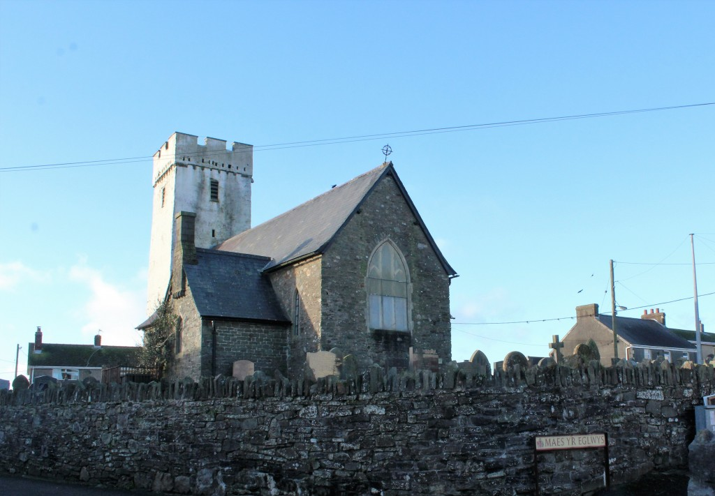In the afternoon, a short visit to All Saints, Llansaint