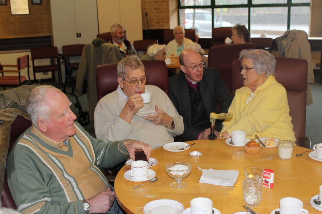 ...and a chat with the residents