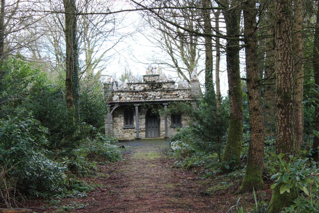 Nearby, in the woods, is the recently-restored Shell House
