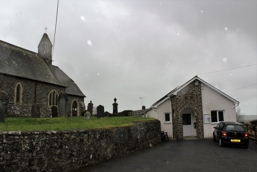 Services are held next door in the church hall