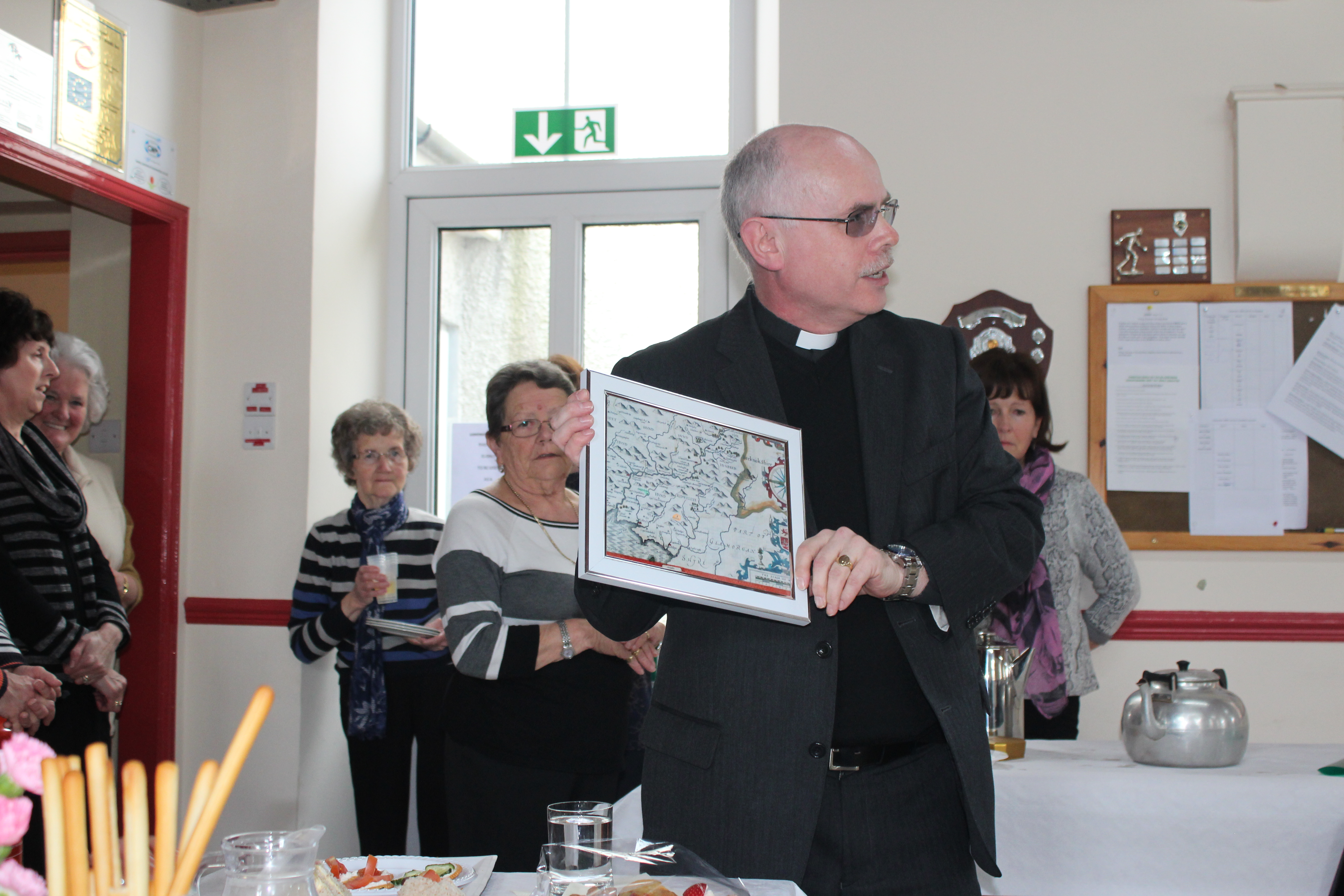 ...and a presentation by vicar Marc Rowlands