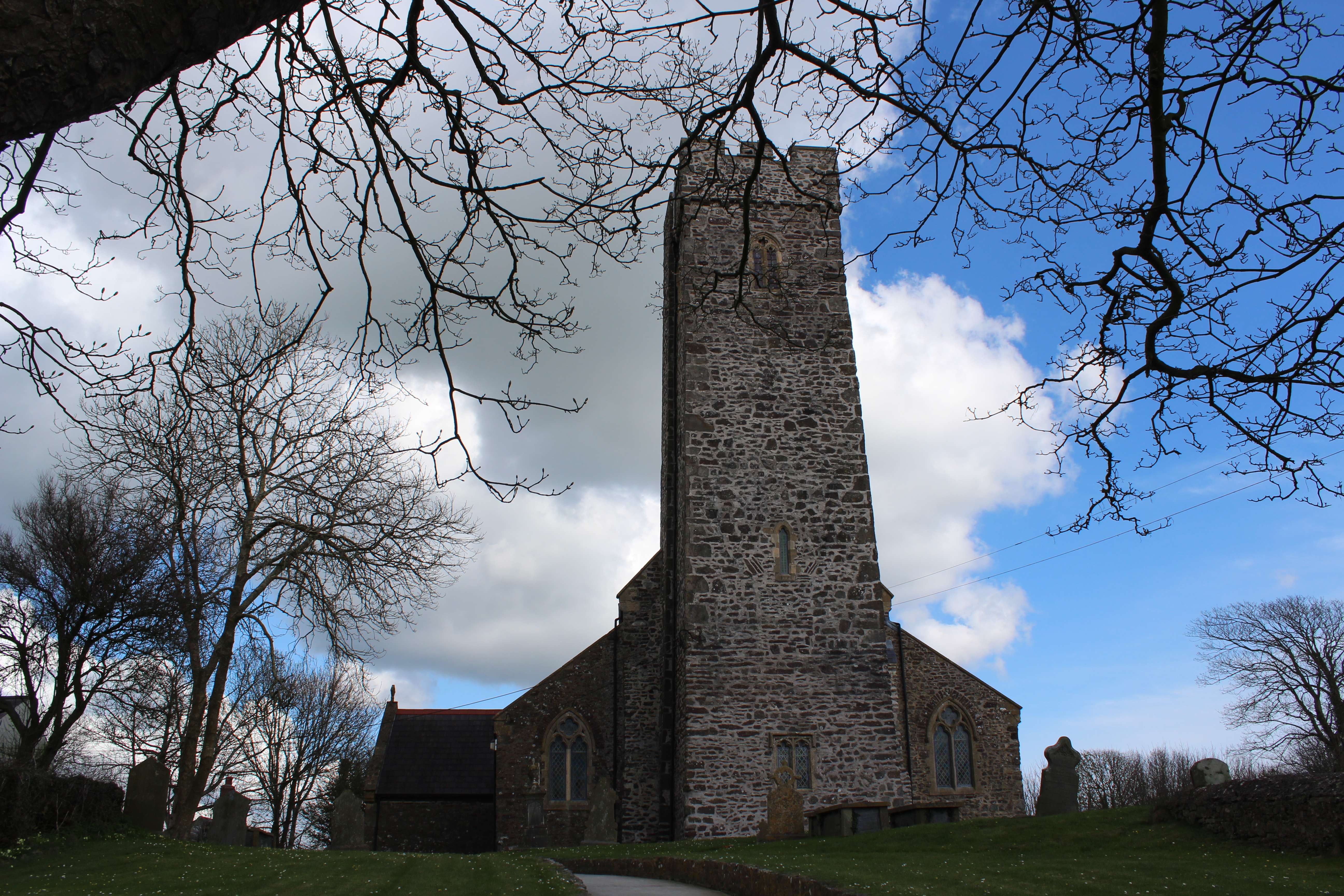 St Cewydd's dominates the village of Steynton, on the outskirts of Milford Haven
