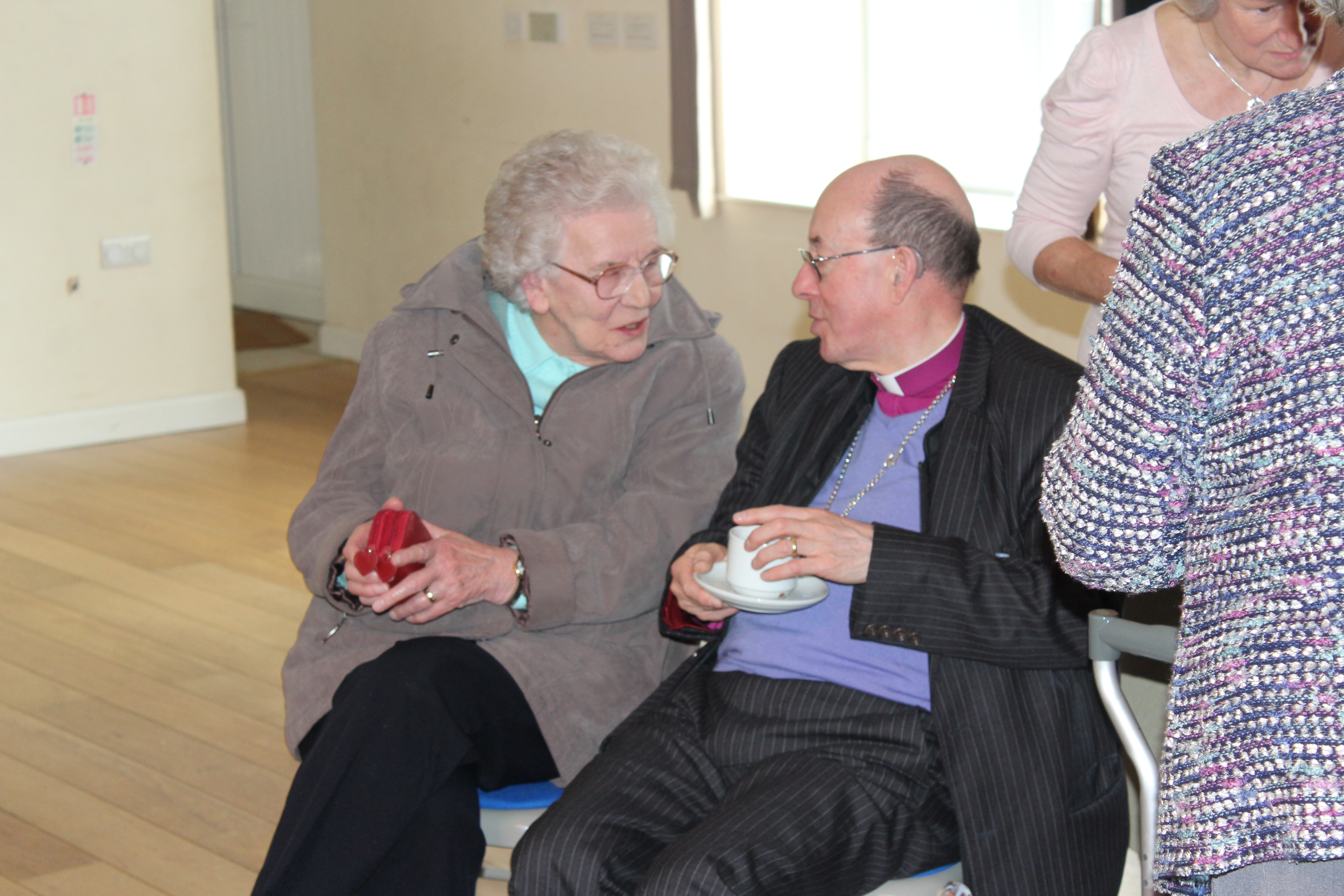 ...and one of its oldest, Sylvia Davies, 92