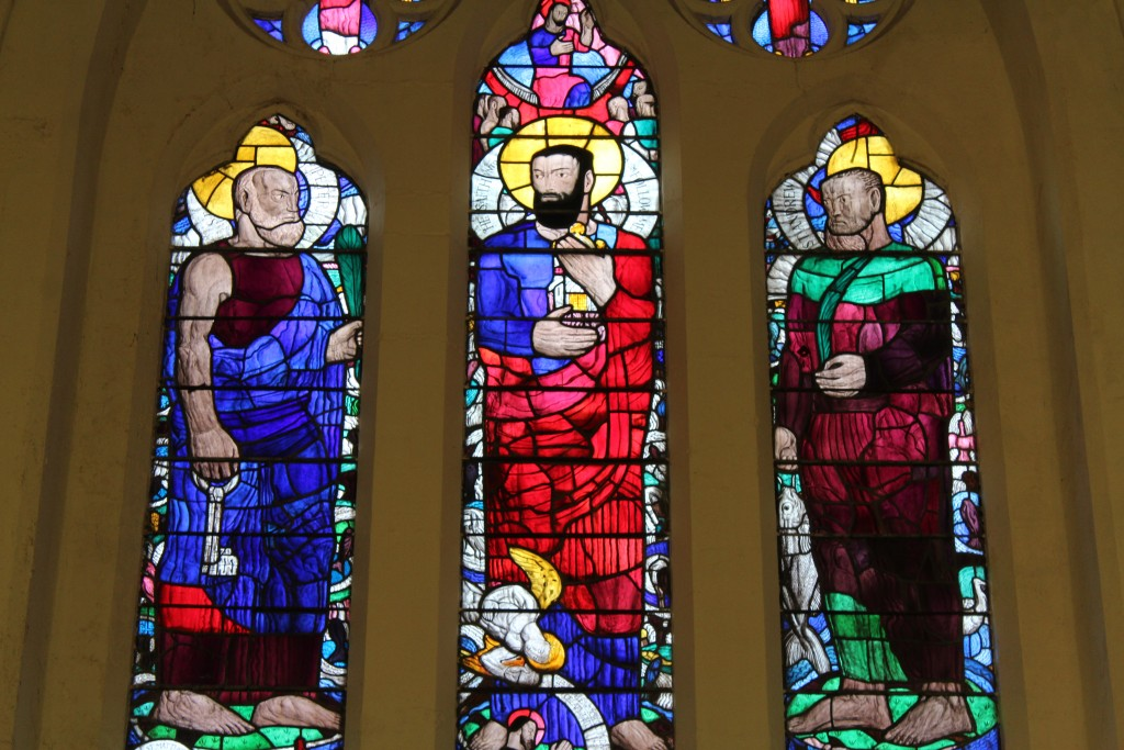 The distinctive 1940s  window portrays the calling of the fishermen