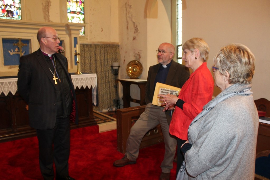 Getting an update from church wardens and incumbent, Revd Andy Herrick