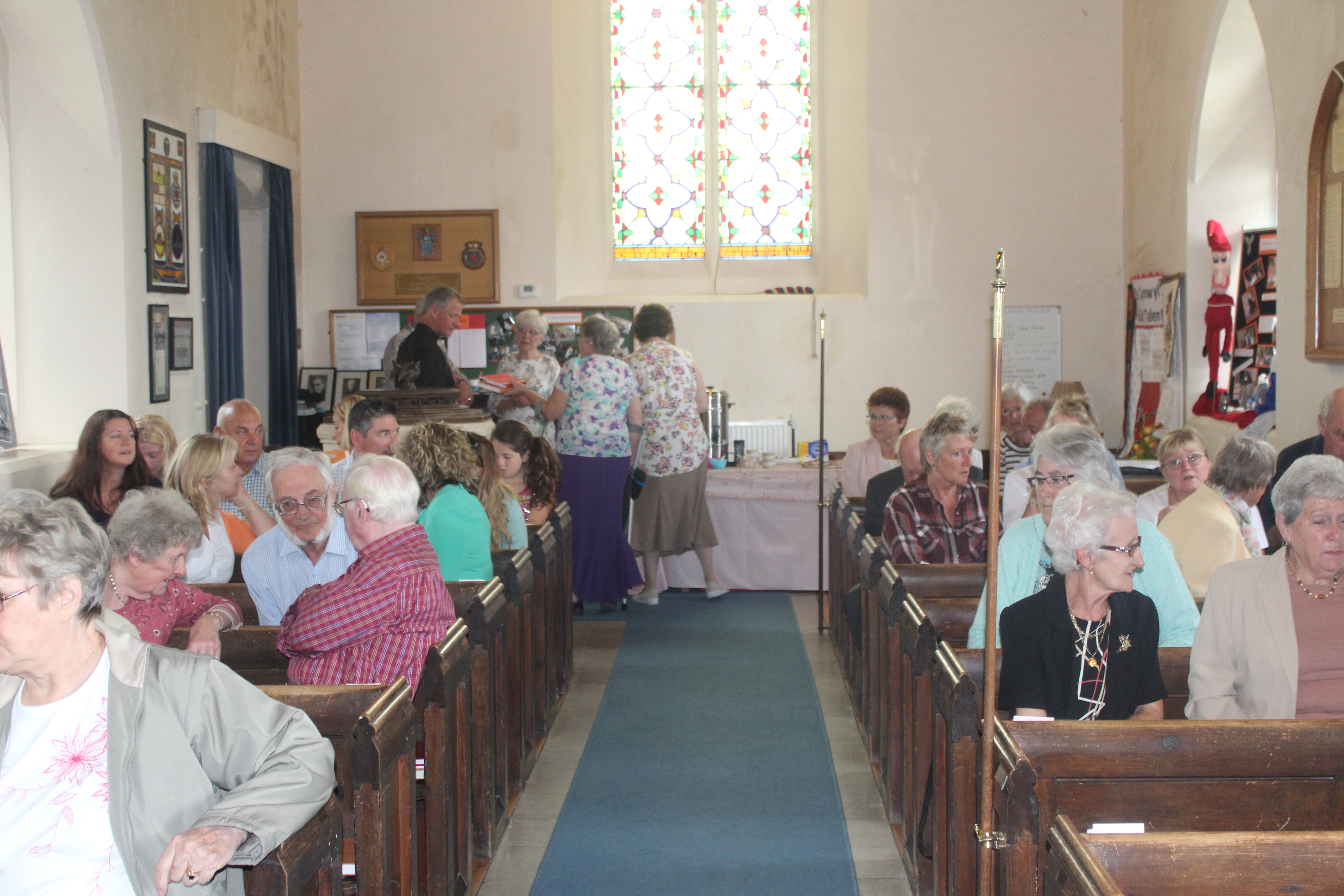 The church is full for the service