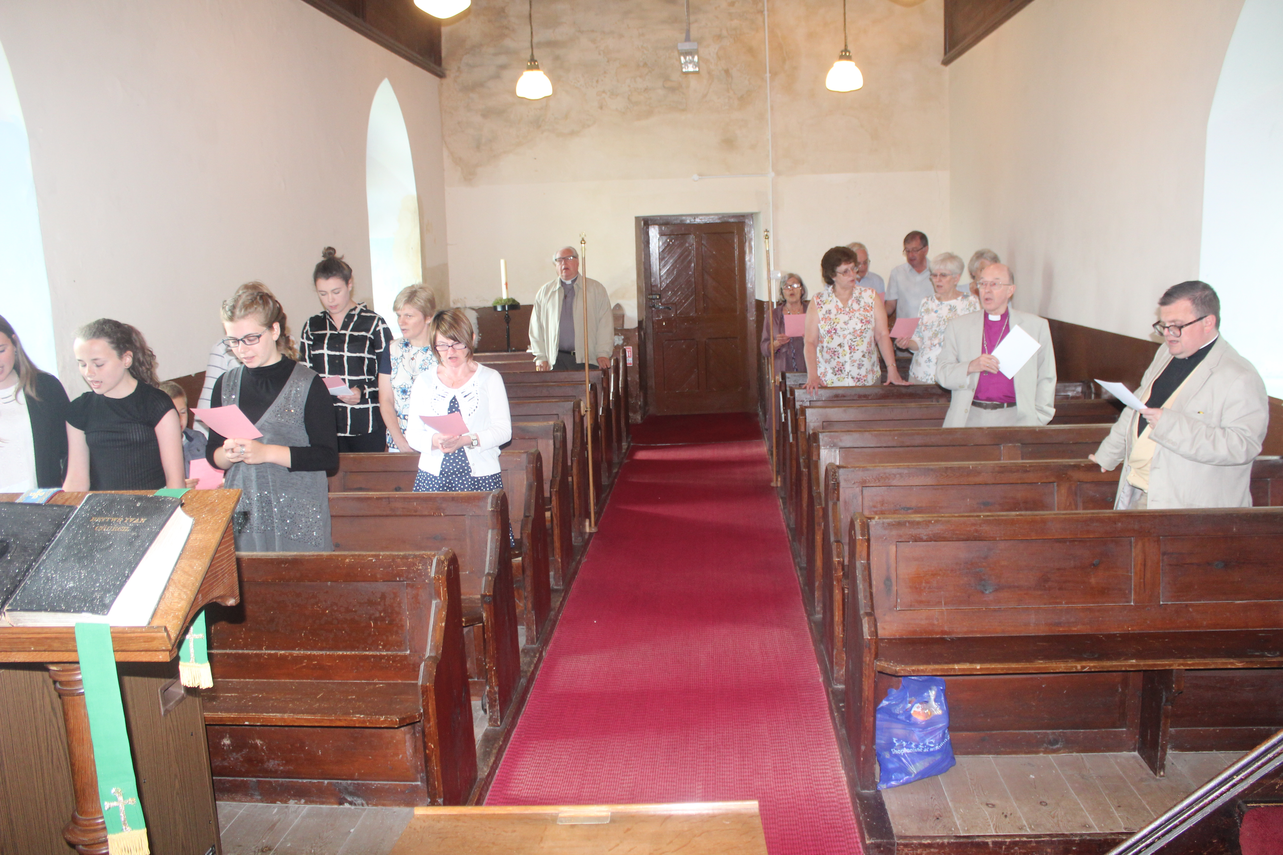 ...the youngsters lead the service