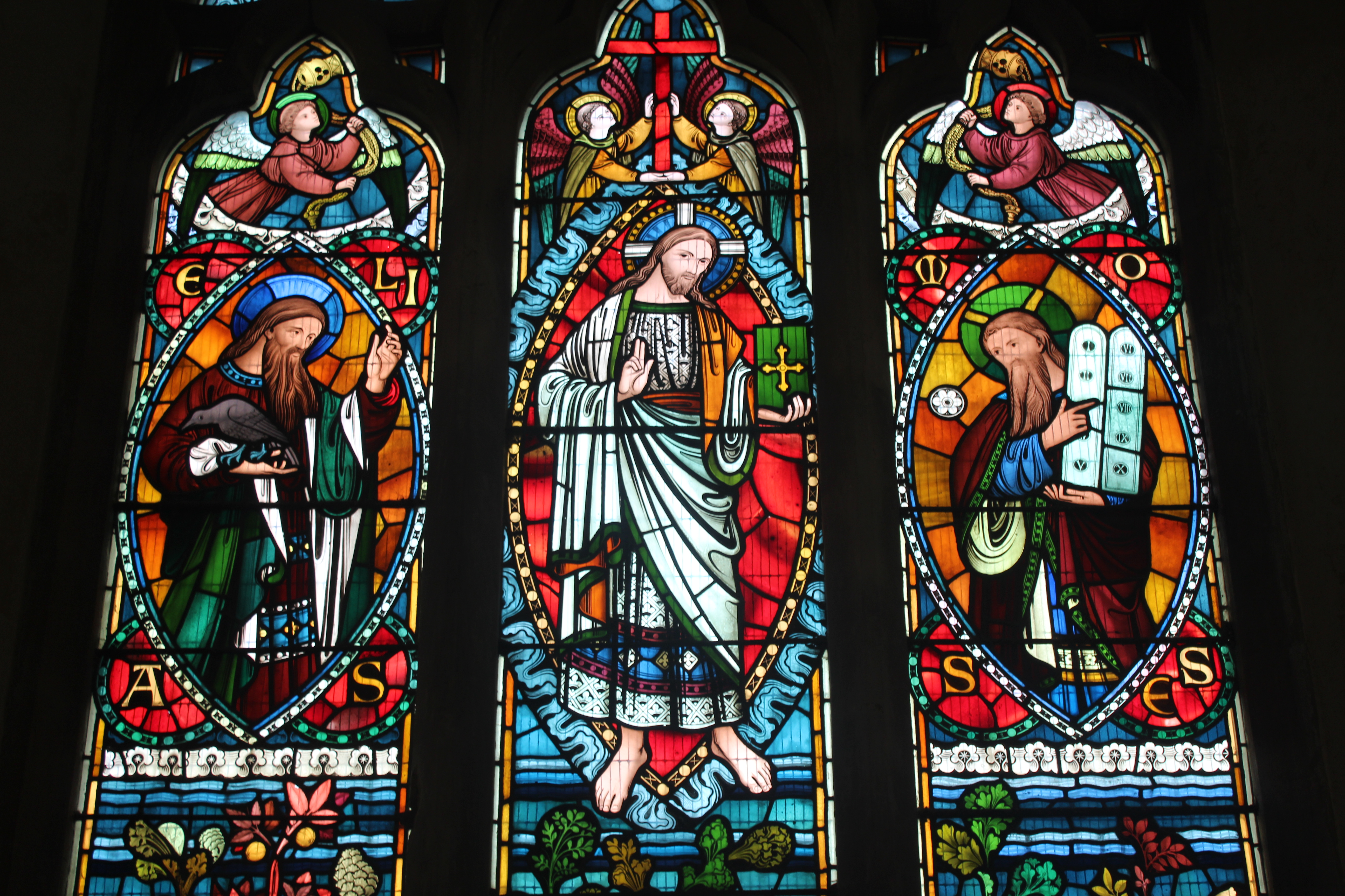 The distinctive window depicts the Transfiguration
