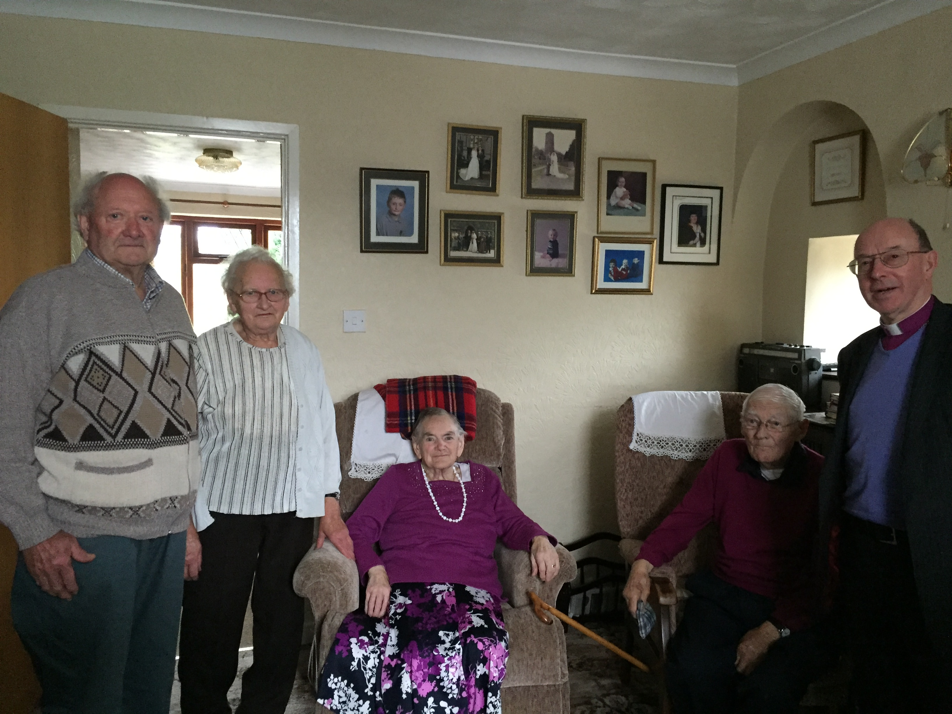 Eileen and Eirys Thomas' parents are the oldest members of the coingregation