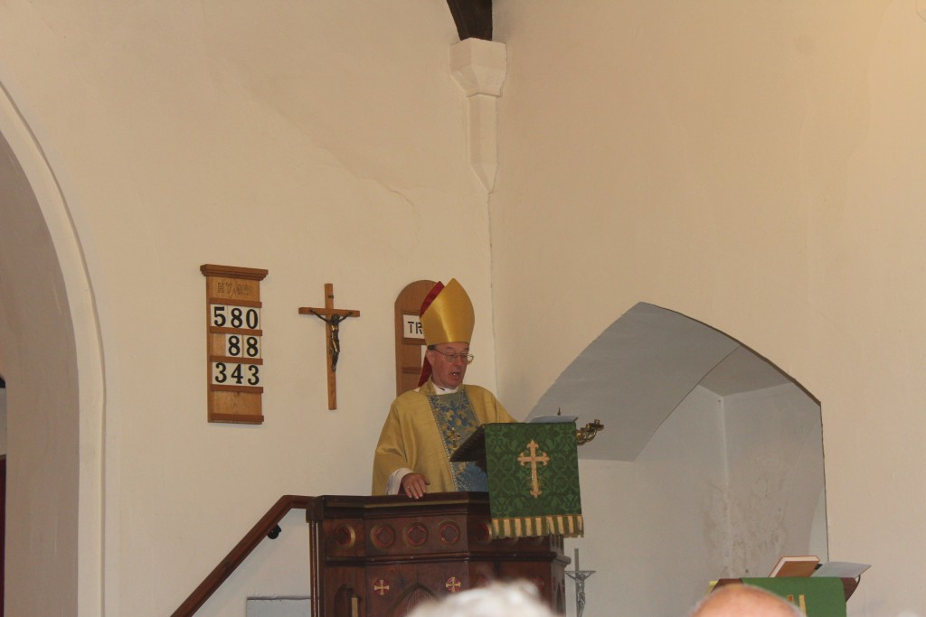 The 128th bishop addresses today's congregation 1500 years on