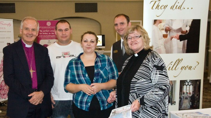 Archbishop at wedding fayre web