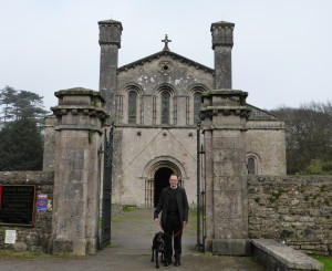 Father Edward outside Margam Abbey