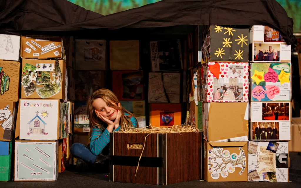 Lena Lacey-Hughes in the You Cube shelter