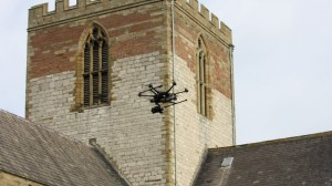 Drone at St Asaph Cathedral