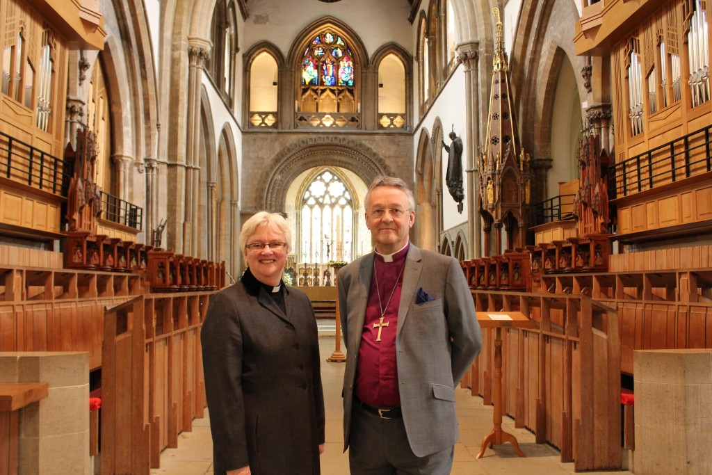 Dean June with Bishop John Davies 1