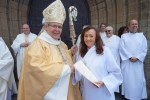 Bishop Gregory with new deacon Juliet Fraser web