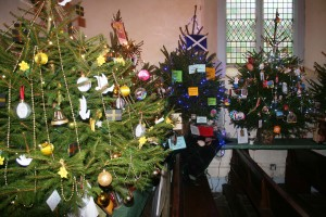 The annual Christmas tree festival is a big draw...